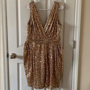 Gold Badgley Mischka dress